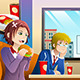 Couple Eating Lunch Together - GraphicRiver Item for Sale