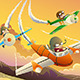 Kids in an Airplane Race - GraphicRiver Item for Sale