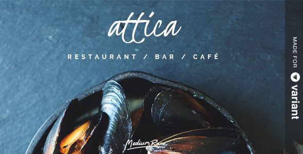 ThemeForest Attica Restaurant Template with Page Builder 8217185