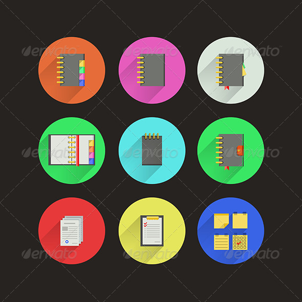 GraphicRiver Flat Icons for Notebooks 8292753