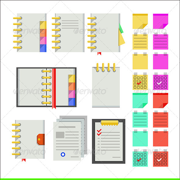 GraphicRiver Flat Icons for Notebooks 8292758