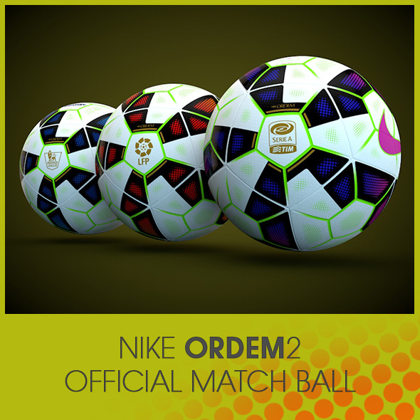 3DOcean Nike Ordem 2 Official Match Ball 8292761