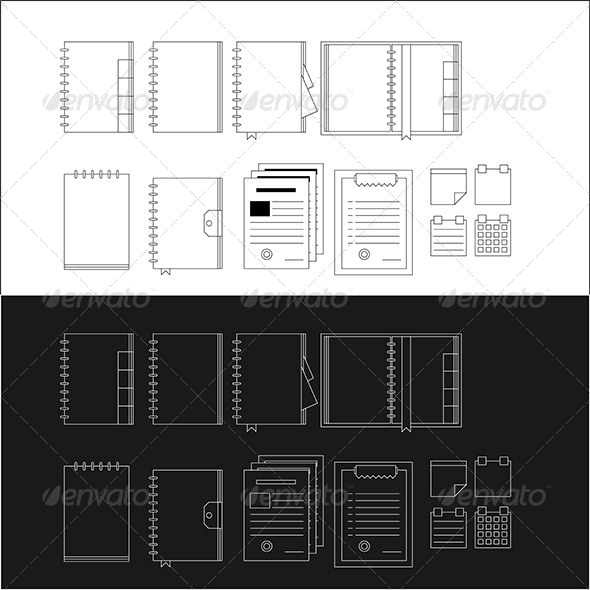 GraphicRiver Icons for Notebooks 8292769