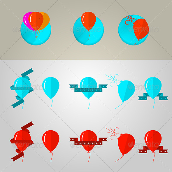 GraphicRiver Illustration of Balloons 8292775
