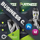 Fitness Salon Business Card Templates - GraphicRiver Item for Sale