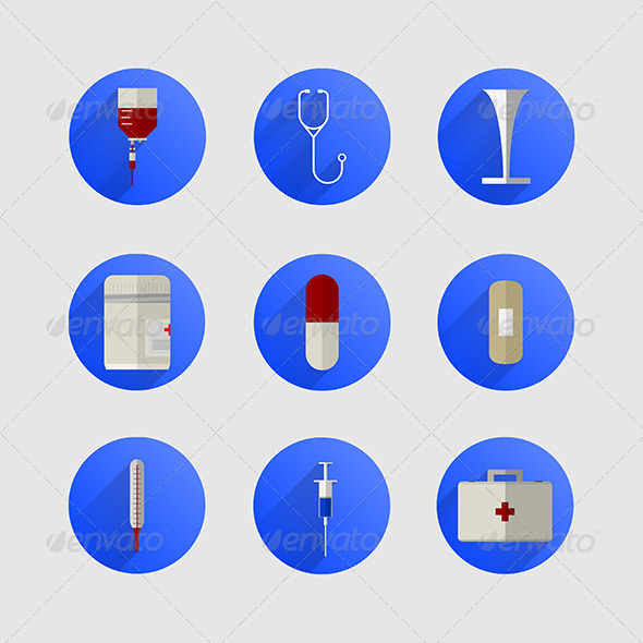 GraphicRiver Icons for Medicine 8292889