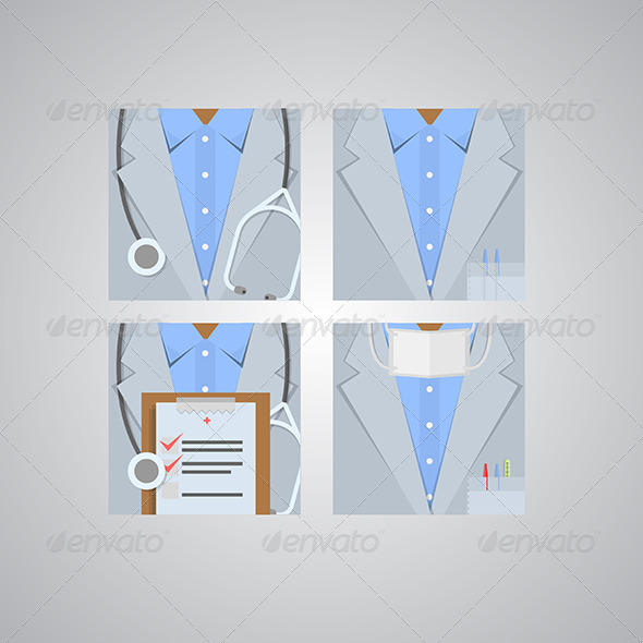 GraphicRiver Flat Icons for Doctor 8292894