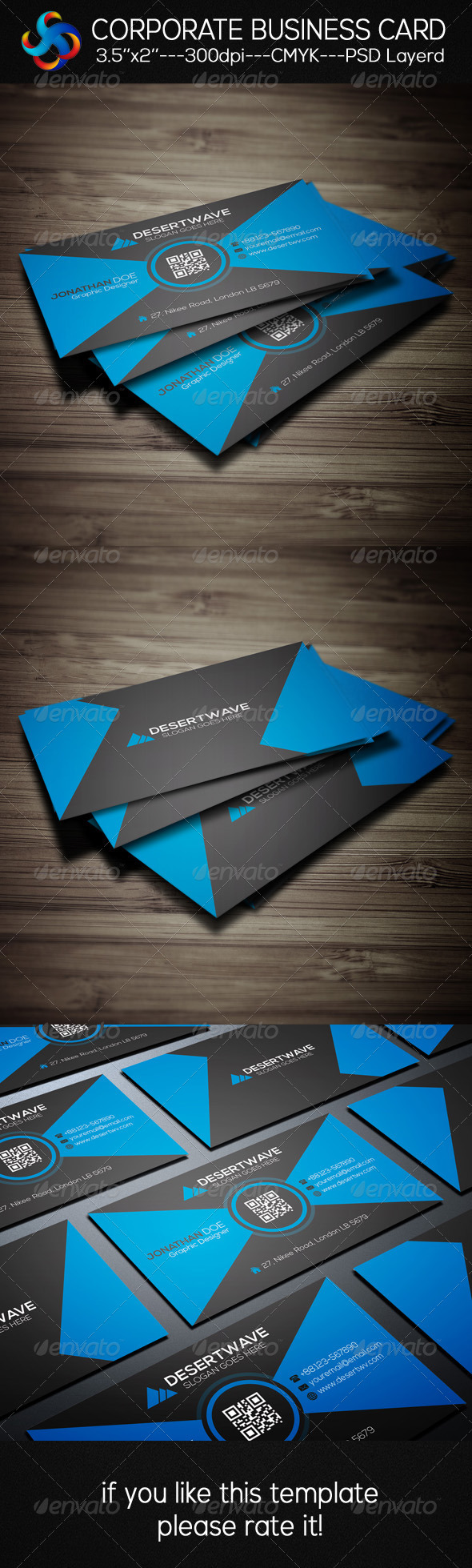 GraphicRiver Creative Corporate Business Card 8292896