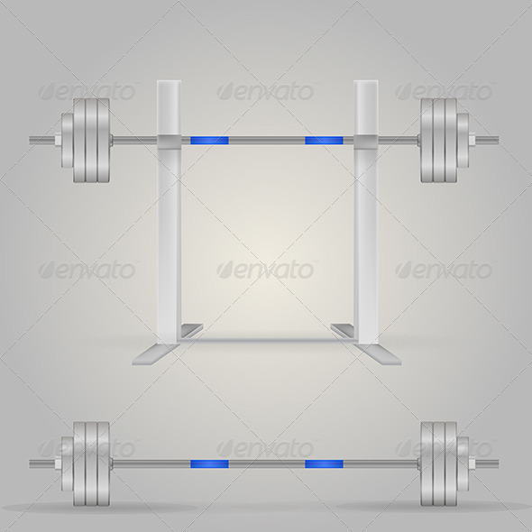 GraphicRiver Illustration of Barbells 8292960
