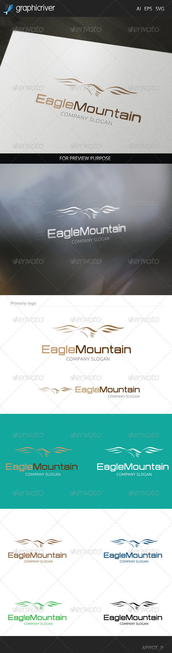 GraphicRiver Eagle Mountain Logo 8293129