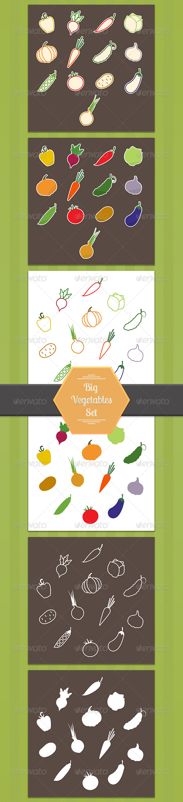 GraphicRiver Big Vegetables Set 8293200