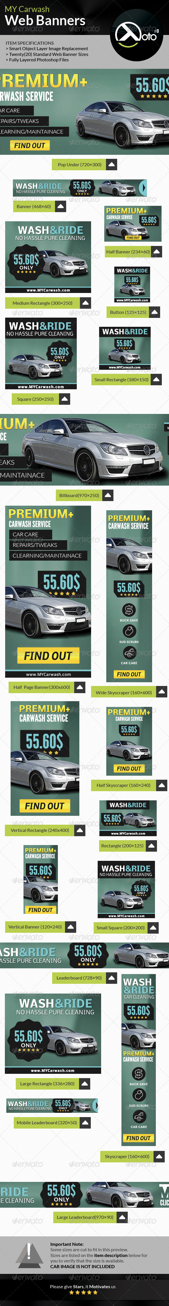 GraphicRiver MY Automobile Carwash Service Web Banners 8275717