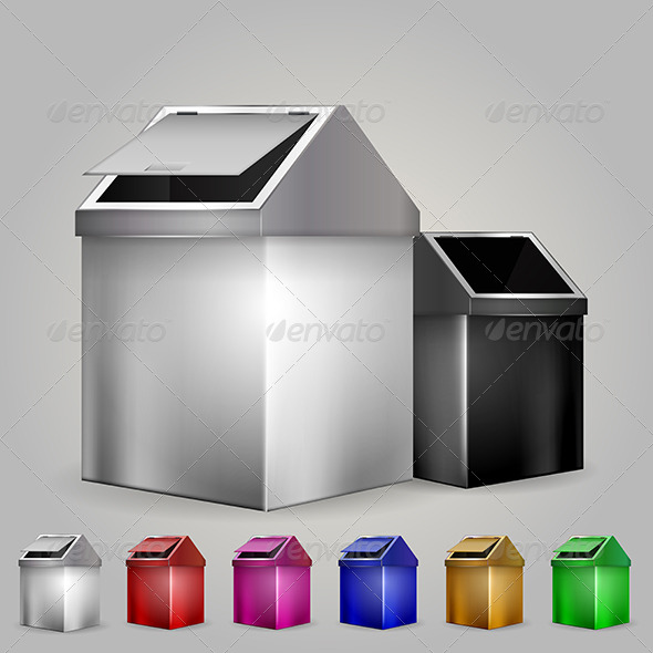 GraphicRiver Illustration of Dustbins 8293227