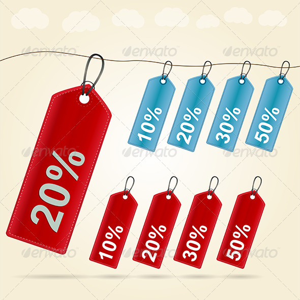 GraphicRiver Illustration of Price Tags 8293232
