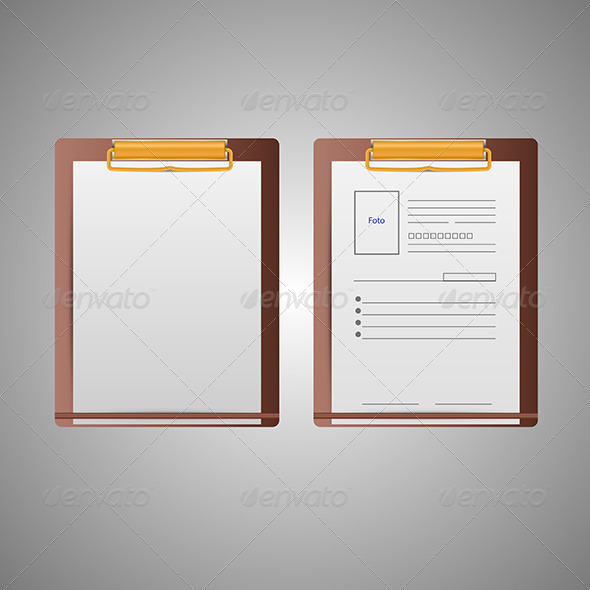 GraphicRiver Illustration of Clipboards 8293236