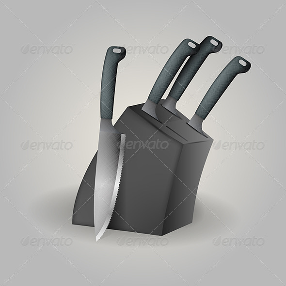 GraphicRiver Illustration of Knife Set 8293322
