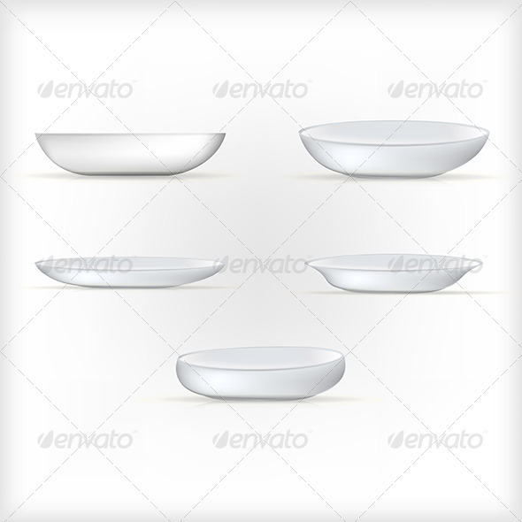 GraphicRiver Illustration of White Dishes 8293328