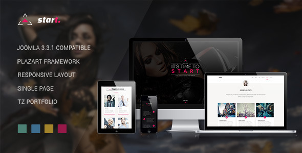 ThemeForest Start One Page Responsive Joomla Template 8293431