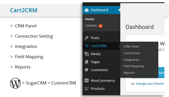 CodeCanyon Cart2CRM Woocommerce and SugarCRM integration 8234719