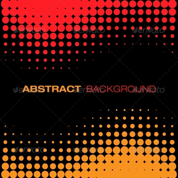 GraphicRiver Abstract Red Yellow Halftone Background 8293481