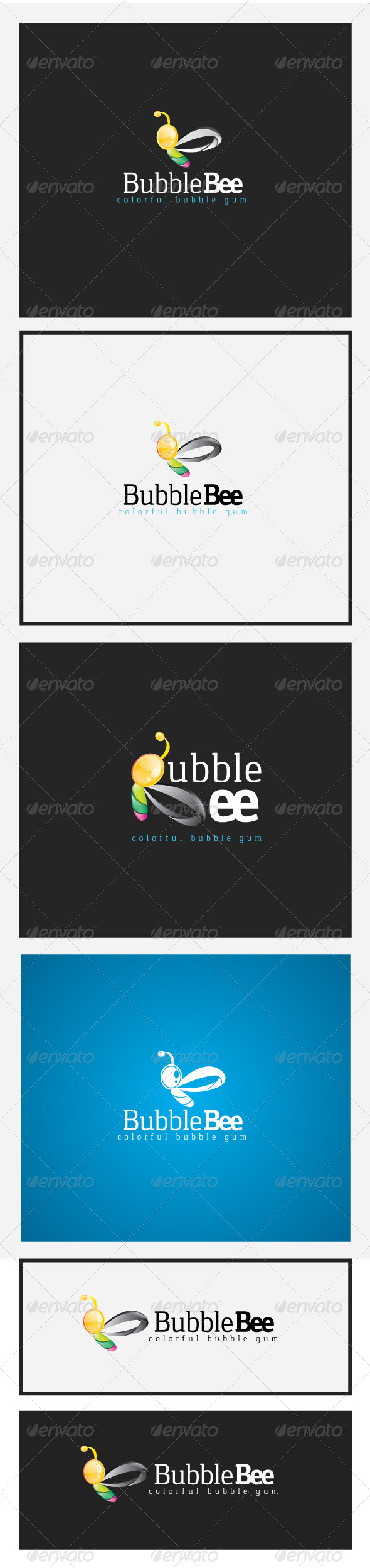 Bubble Bee Logo - Letters Logo Templates
