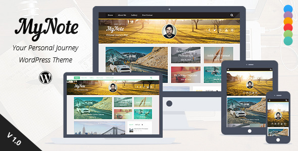 ThemeForest My Note Personal Blog Wordpress Theme 8192177