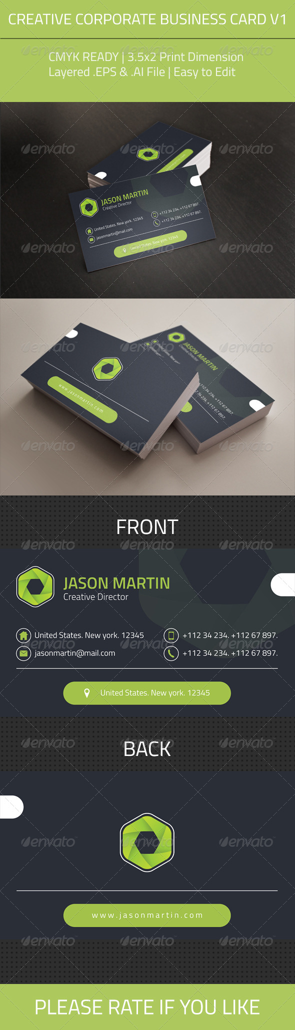 GraphicRiver Creative Corporate Business Card V1 8269006