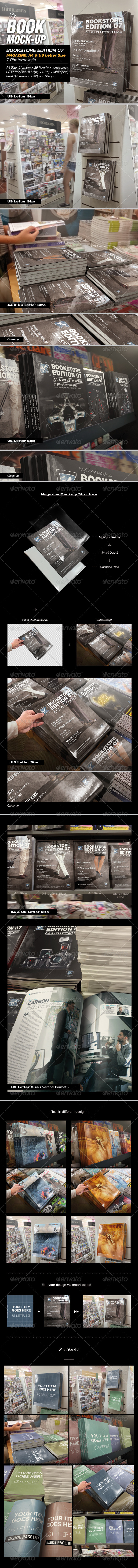 GraphicRiver MyBook Mock-up Bookstore Edition 07 8257623