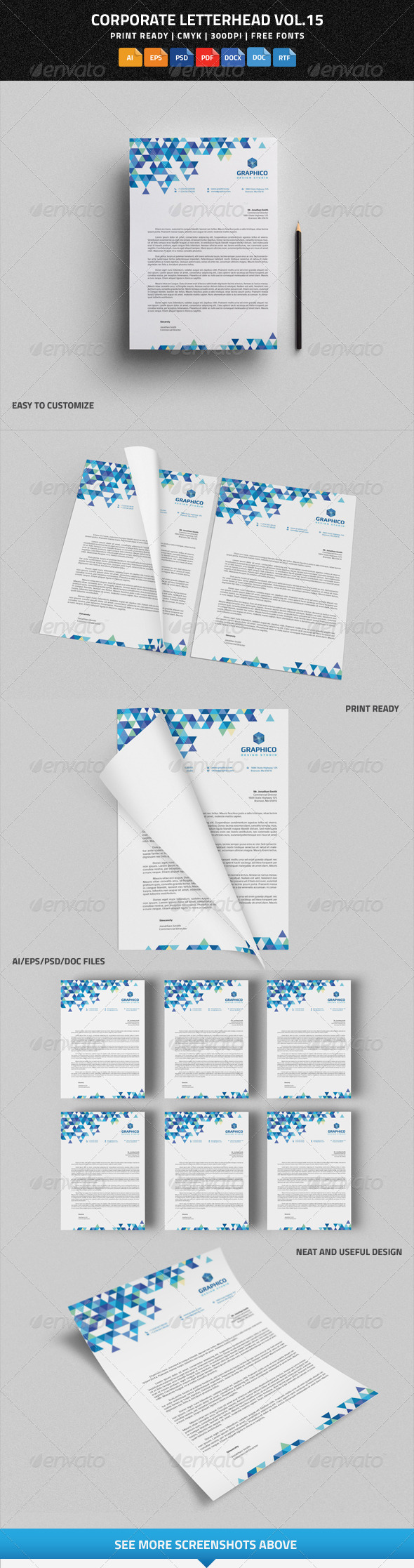 GraphicRiver Corporate Letterhead vol.15 with MS Word DOC DOCX 8173484