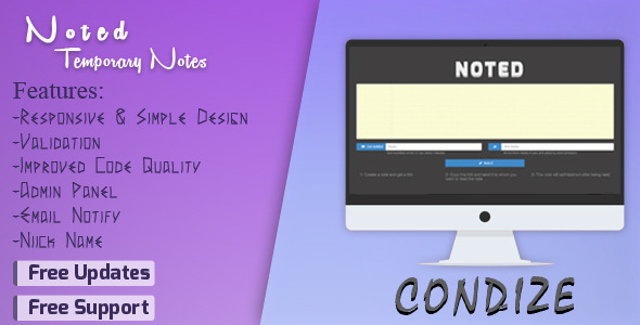 CodeCanyon Noted Temporary Notes System 8293672