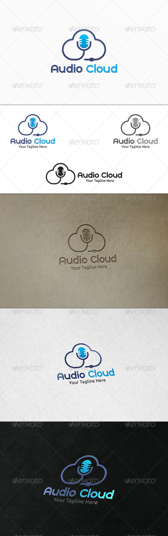 GraphicRiver Audio Cloud Logo Template 8293687