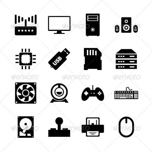 GraphicRiver Computer Hardware Icon 8293704