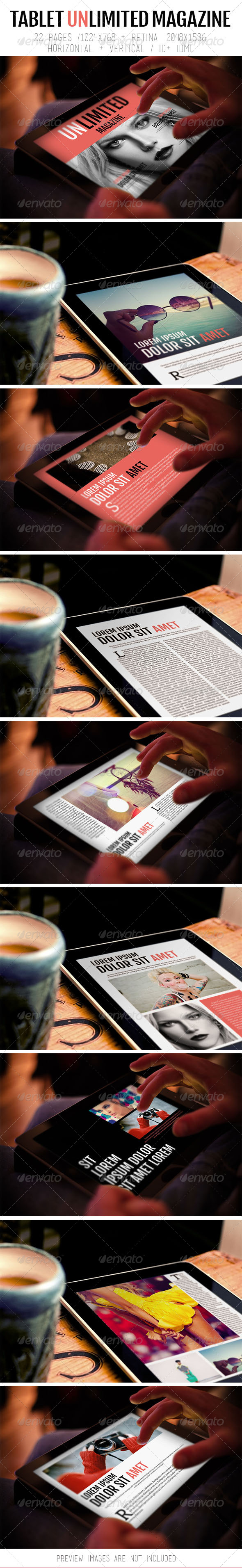 GraphicRiver Tablet Unlimited Magazine 8293729