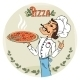 Chef with Pizza - GraphicRiver Item for Sale