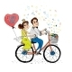 Couple riding Bike - GraphicRiver Item for Sale