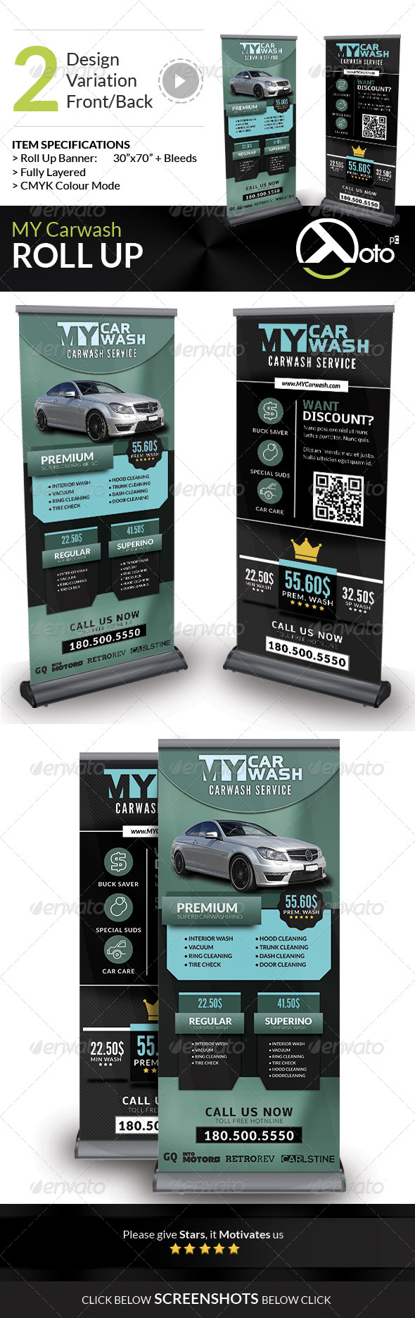 GraphicRiver MY Automobile Carwash Service Roll Up Banner 8293791