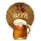 Mug of Beer with a Barrel - GraphicRiver Item for Sale