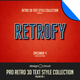 Pro Retro 3D Text Effects Vol. 1 - GraphicRiver Item for Sale