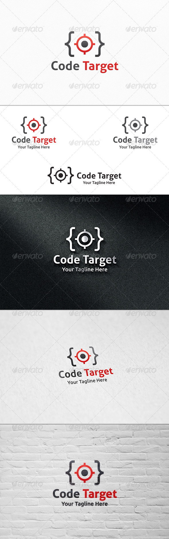 GraphicRiver Code Target Logo Template 8293856