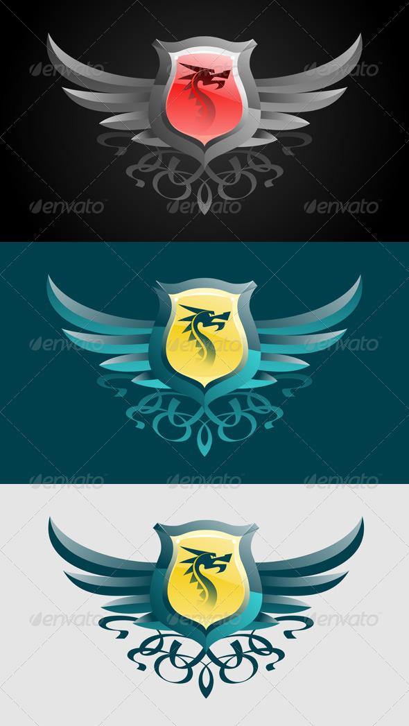 GraphicRiver Dragon Blazon Emblem 8286065