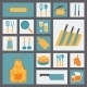Kitchen and Cooking Icons Set - GraphicRiver Item for Sale
