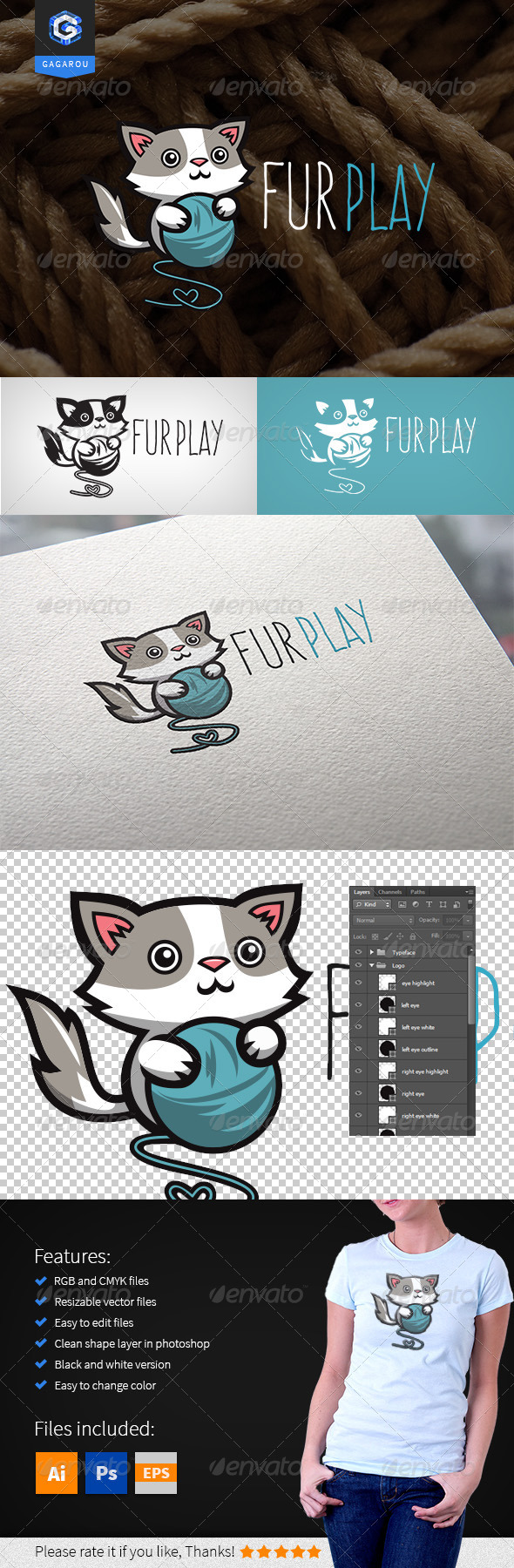 GraphicRiver Fur Play Logo 8293928