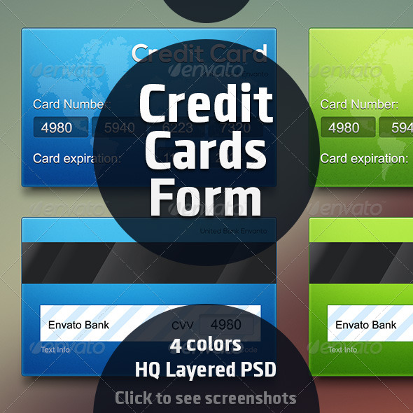 GraphicRiver Credit Card Forms 8284234