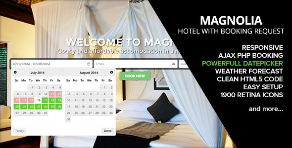 ThemeForest HOTEL MAGNOLIA with Booking request 8294014