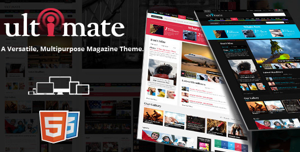 Ultimate Magazine Responsive HTML Template - Entertainment Site Templates