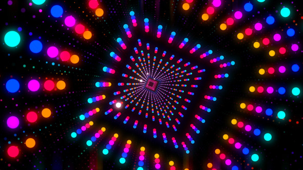 Vj Dancing Tunnel Motion Graphics Videohive