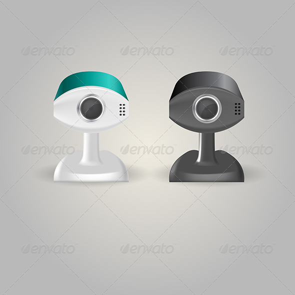 GraphicRiver Illustration of Surveillance Cameras 8294234