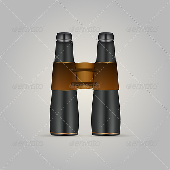GraphicRiver Illustration of Black Binoculars 8294292