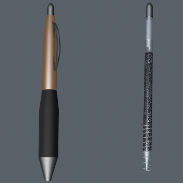 Custom shaped ballpoint pen