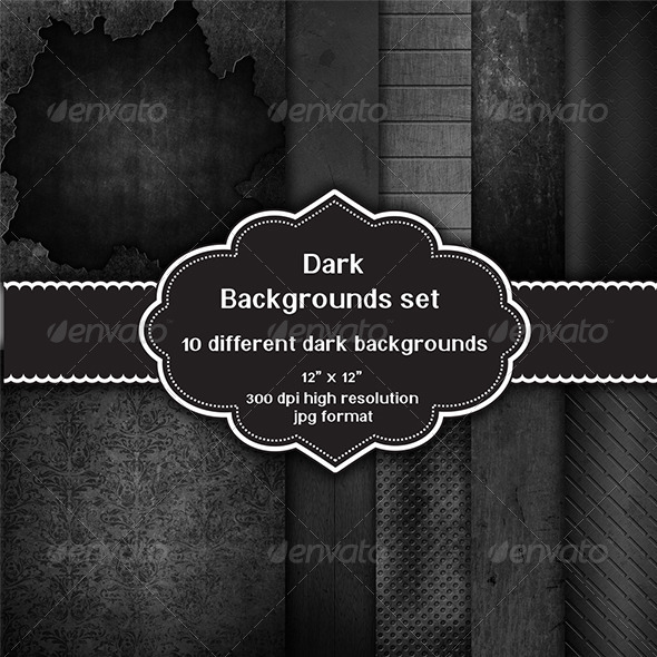 GraphicRiver Dark Backgrounds Set 8294403